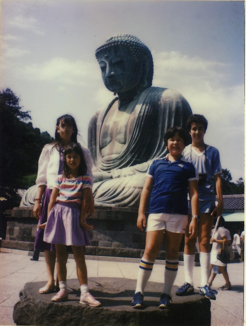 My siblings and I in Kamakura, Japan in 1983