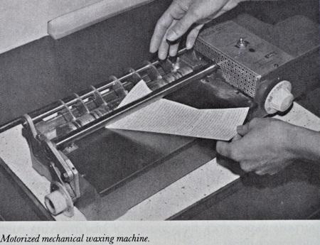 A mechanical wax machine