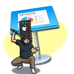 The MacNinja in front of a Keynote Icon